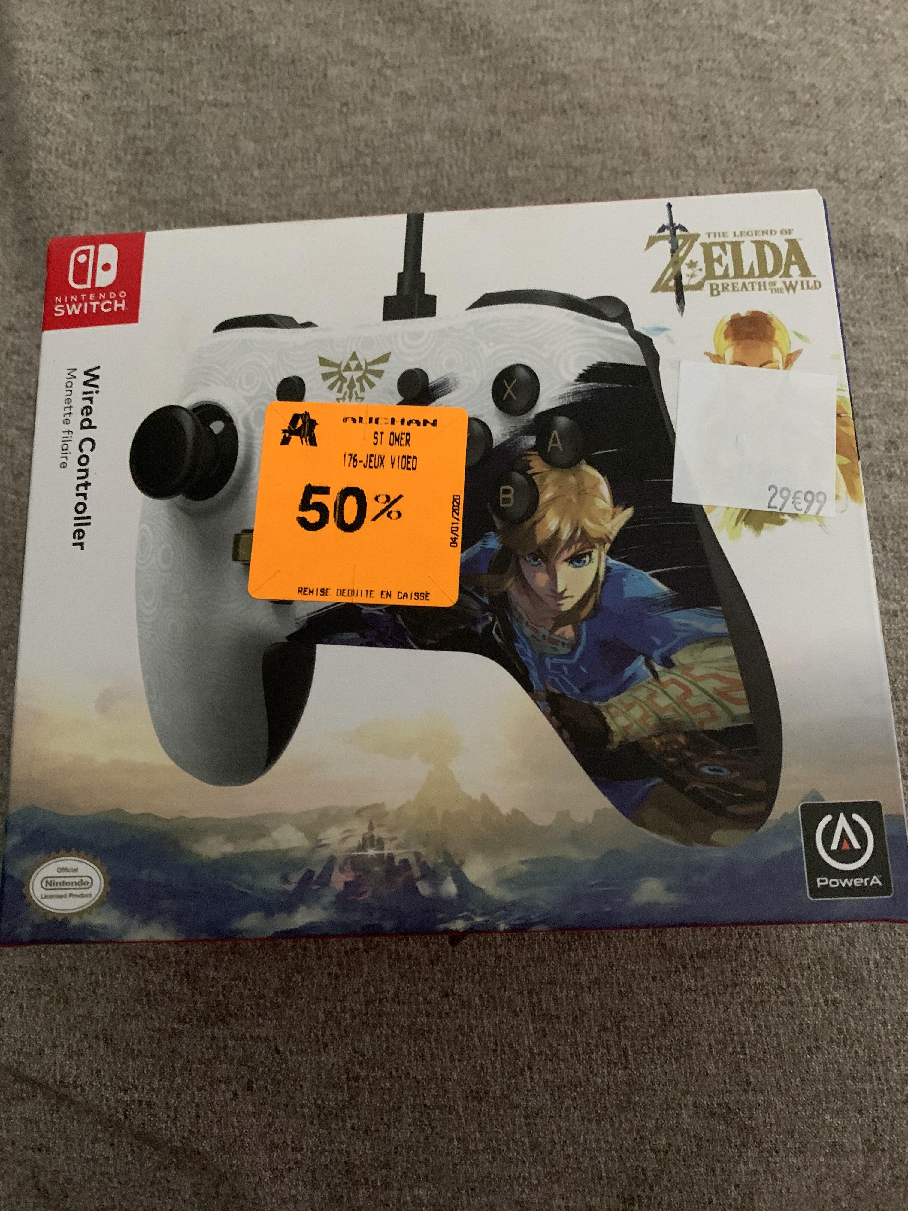 Joypad filaire pour Nintendo Switch : Zelda: Breath of the Wild Edition - PowerA (Longuenesse / Saint Omer 62)