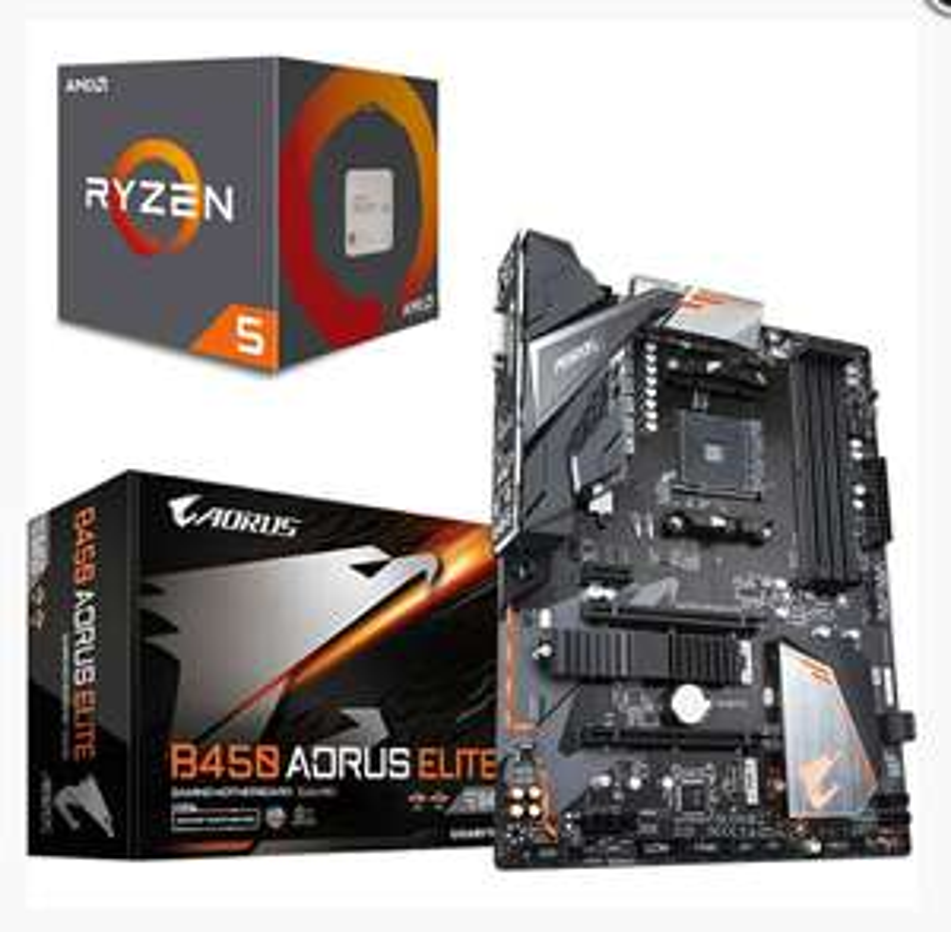 Processeur AMD Ryzen 5 1600 AF (3.2 GHz) + Carte Mère Gigabyte B450 Aorus Elite