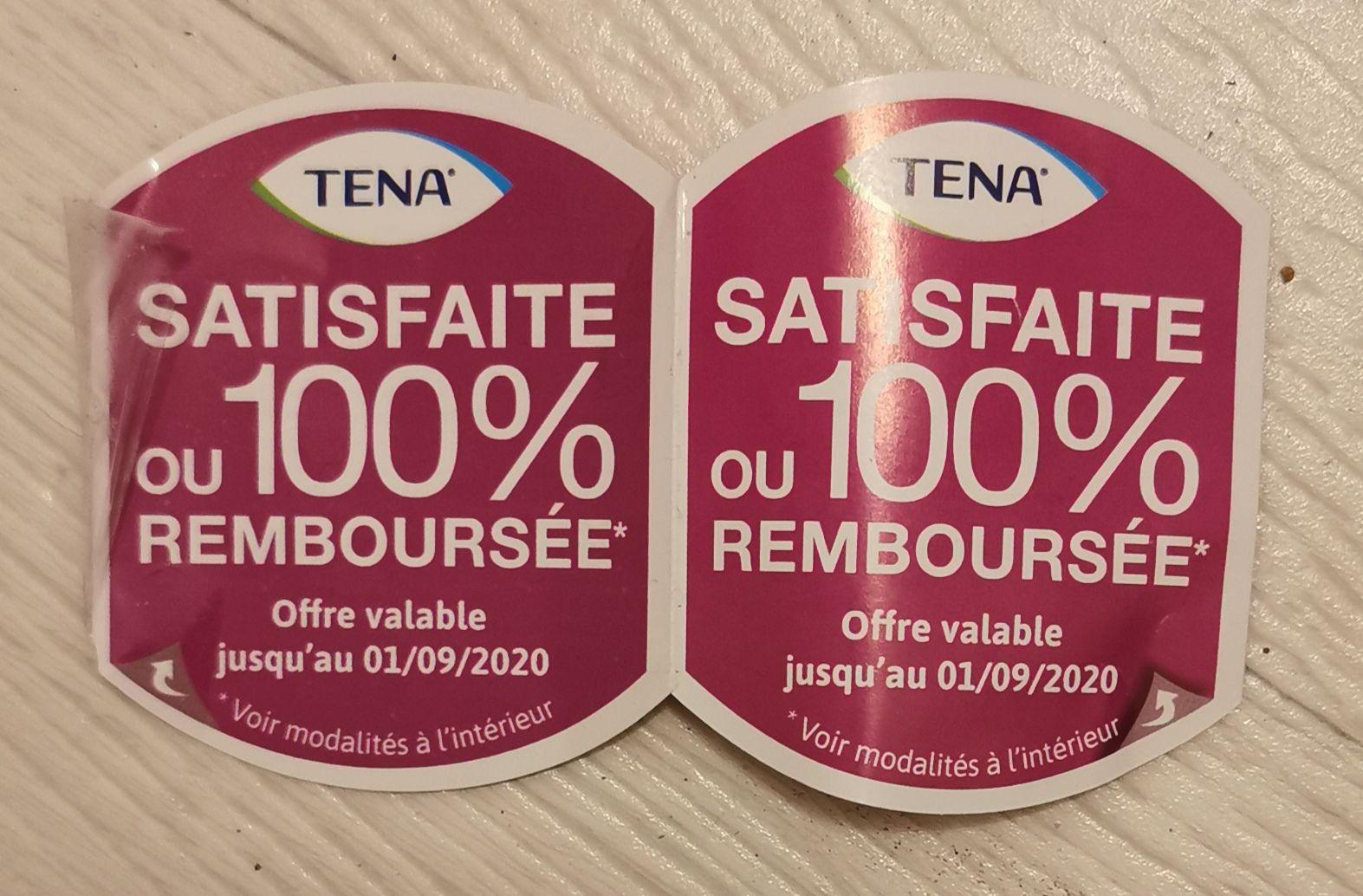 Paquet de serviettes hygiéniques Tena discreet 100% remboursé (via ODR)