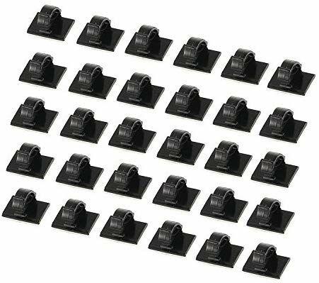 Lot de 30 colliers de serrage pour câbles avec support adhésif (via coupon)