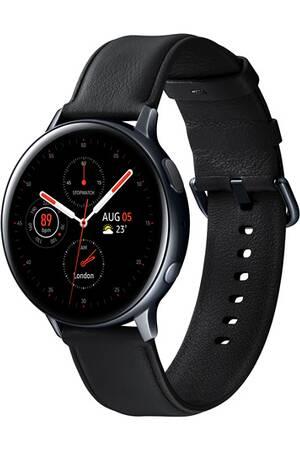 Montre connectée Samsung Galaxy watch active 2 - 44mm, Acier, Cuir noir (via ODR de 50€)