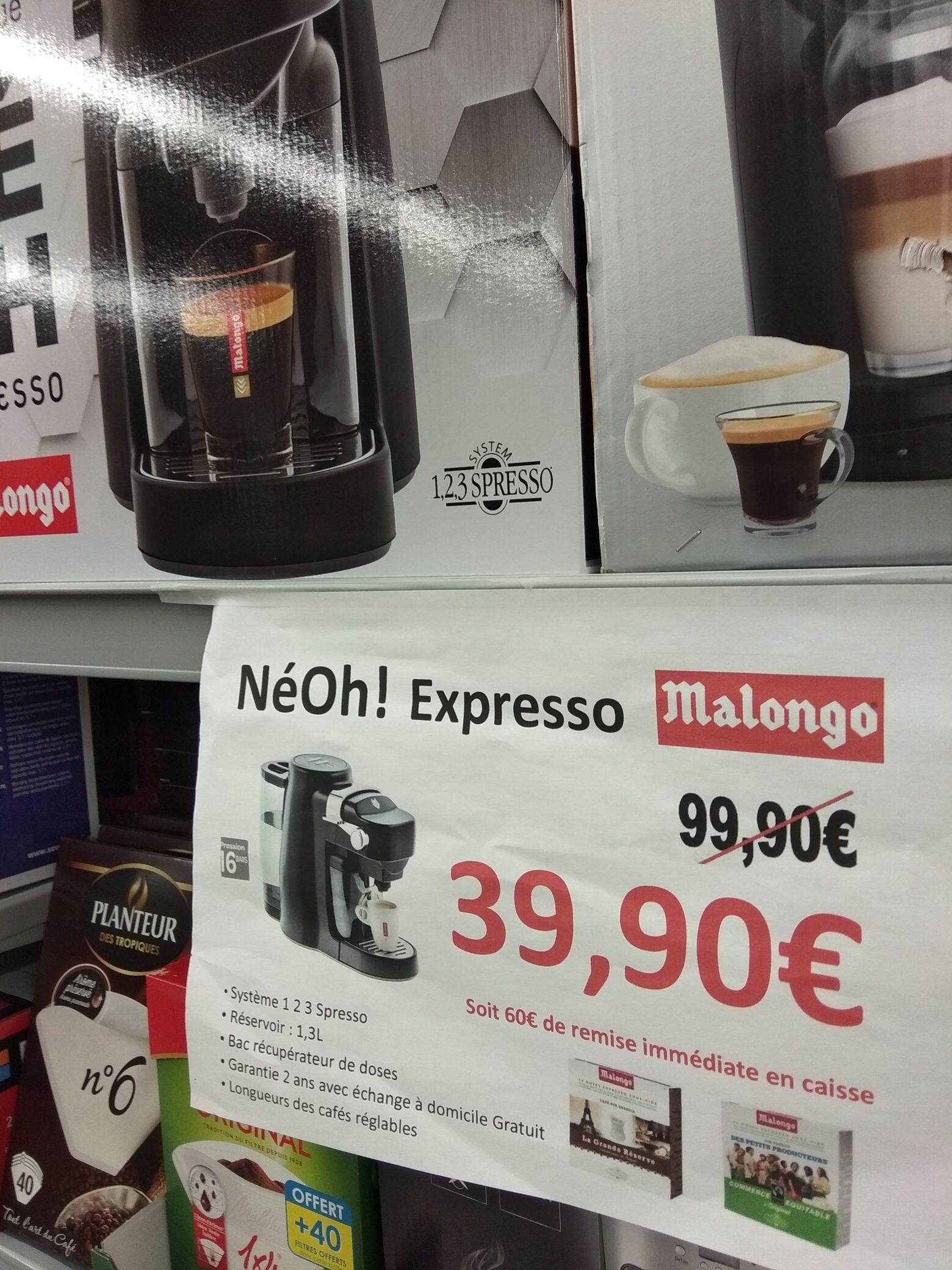 Cafetière à dosettes Malongo Néoh - 1.3 L (Le Touvet 38)