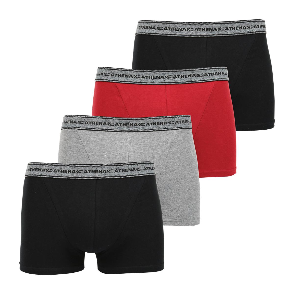 Sélection d'articles Athena en promotion - Ex : Lot de 4 boxers homme Eco Pack - Diverses tailles (athenashop.fr)