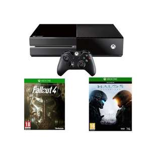 Console Microsoft Xbox One 1 To + Fallout 4 + Halo 5 OU  Xbox One 1 To + Fallout 4 + Rise of Tomb Raider