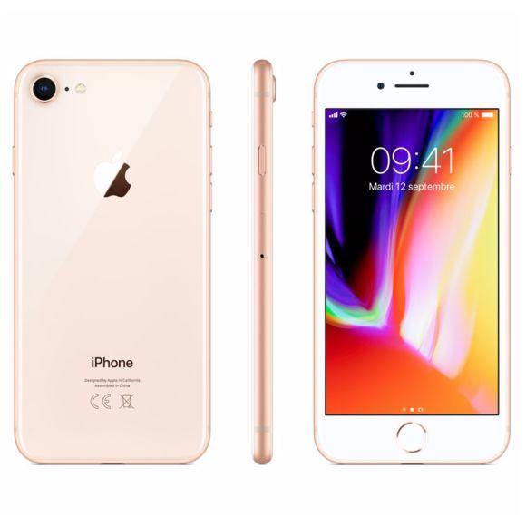 """Smartphone 4,7"""" Apple iPhone 8 - 64 Go, Or, Reconditionné (Très bon état)"""