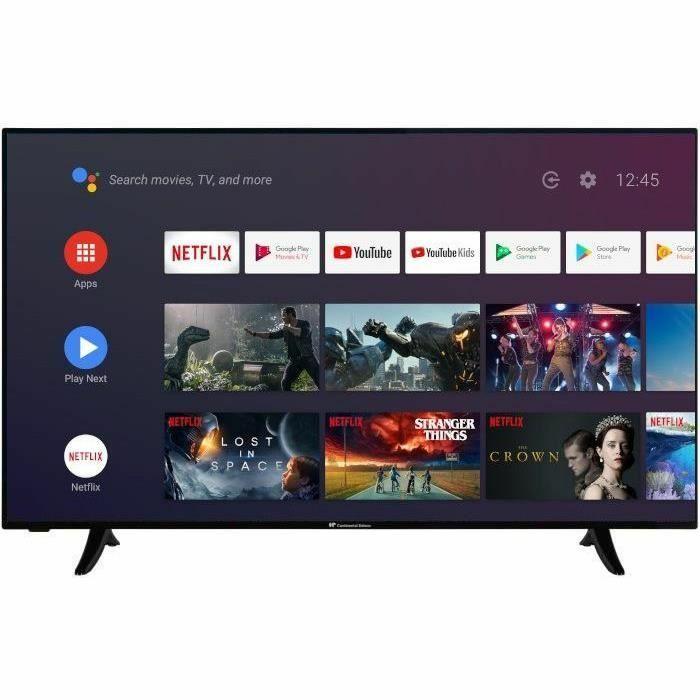 "TV 65"" Continental Edison CELED65SA20B3 - UHD 4K, Android TV"