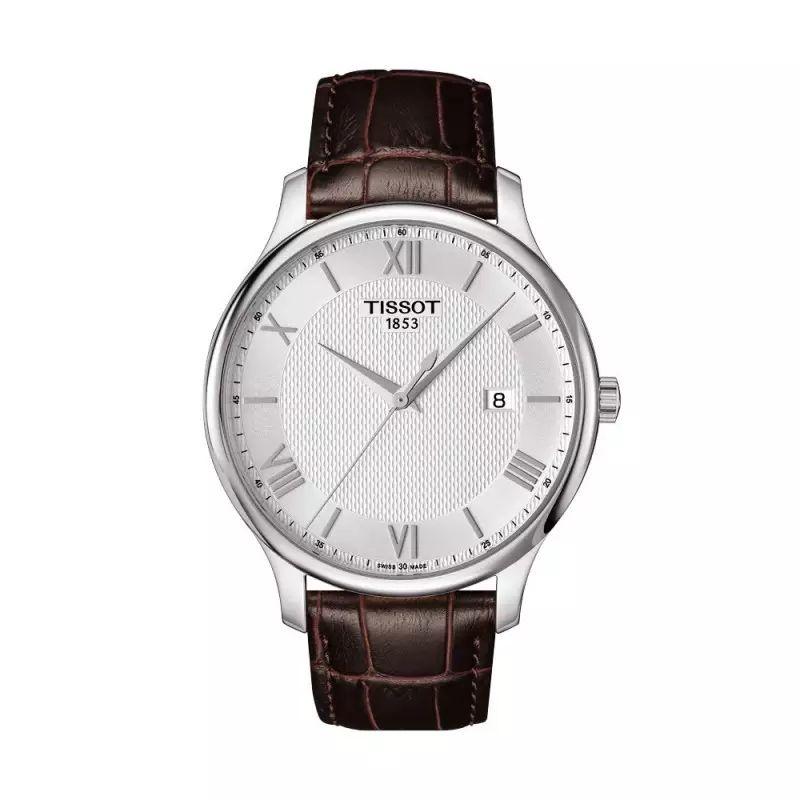 Montre quartz Tissot Tradition Gent. T0636101603800 - 3 ATM, Verre Saphir (montresetvous.com)
