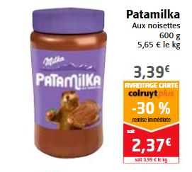 [Carte fidélité] Pâte à tartiner Patamilka - 600 g