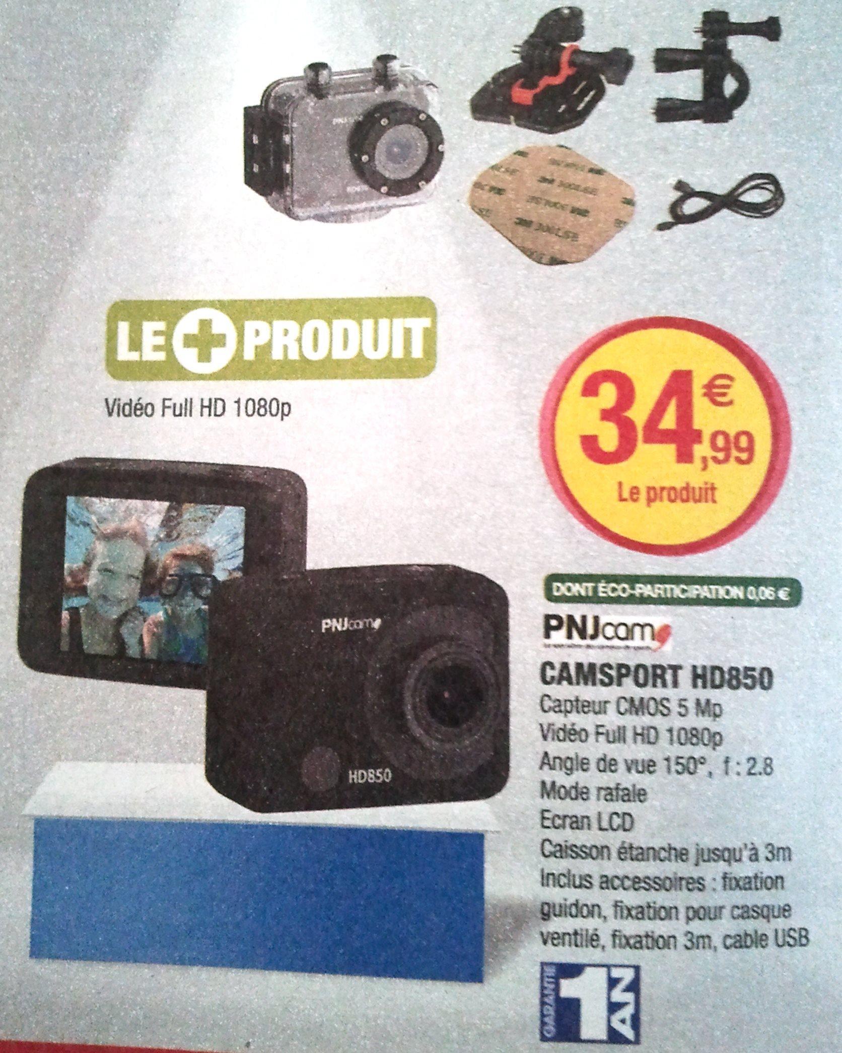 Caméra sportive PNJ Camsport HD850