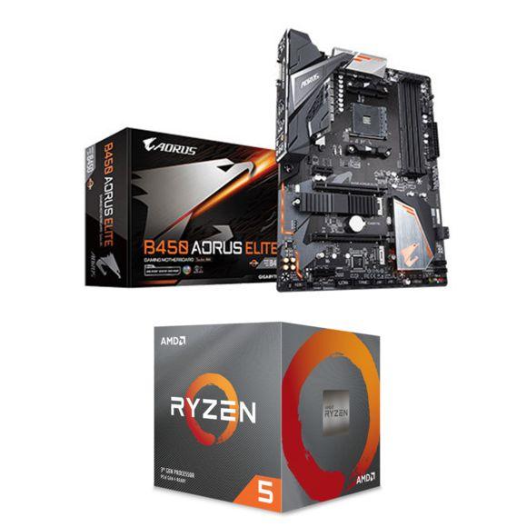 Kit Evo Processeur AMD Ryzen 5 3600 + Carte mère Gigabyte B450 Aorus Elite