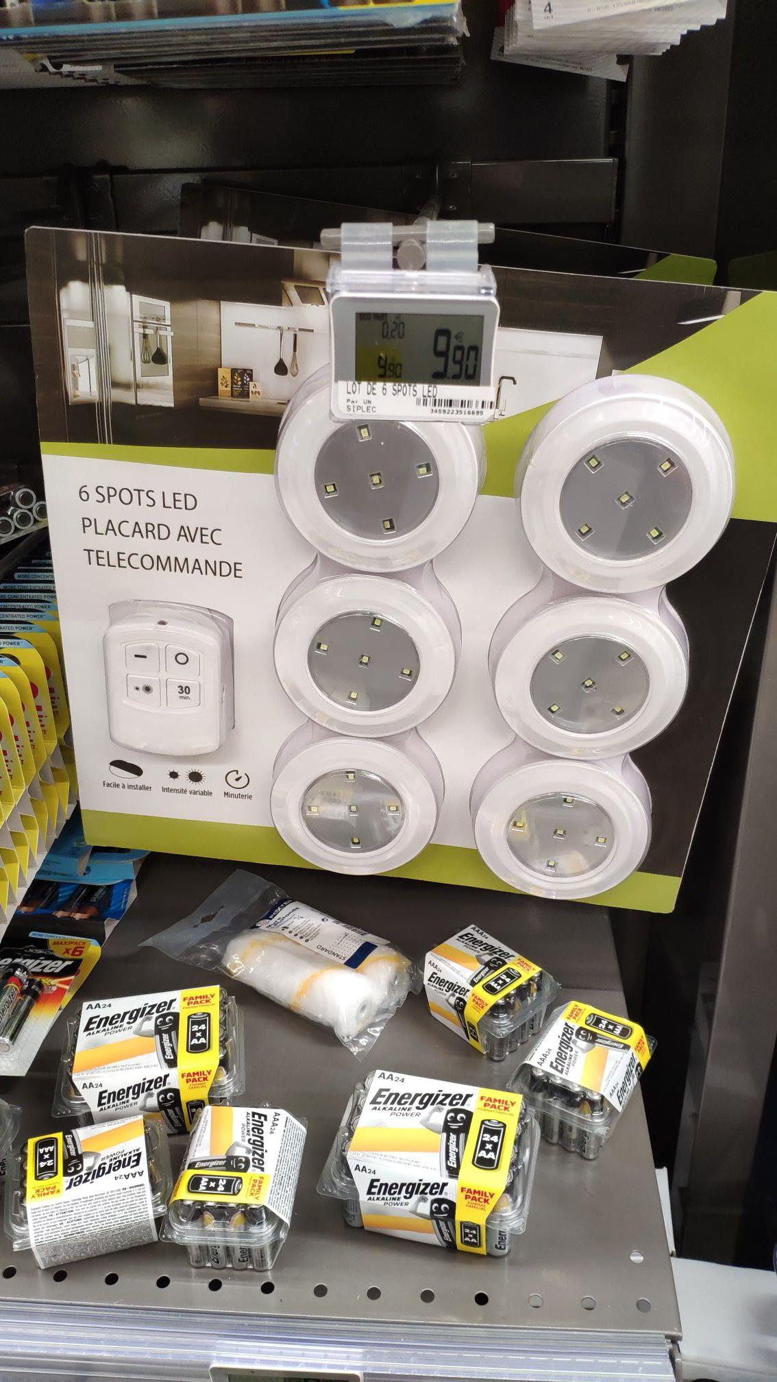 6 Spots LED + Télécommande (Saint Chamond 42)