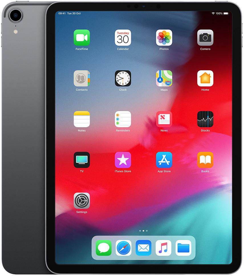 """Tablette tactile 11"""" Apple iPad Pro 11 (2018) - 2388x1668 Retina, A12X, 6 Go de RAM, 64 Go, gris sidéral (+ jusqu'à 147€ en SuperPoints)"""