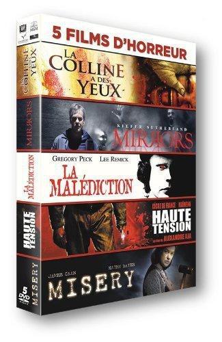 Coffret DVD 5 films d'horreur : La colline à des yeux + Mirrors + La malédiction + Haute tension + Misery