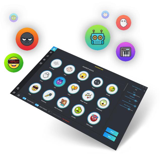 Logiciel Voice Changer Pro sur PC (voicemod.net)