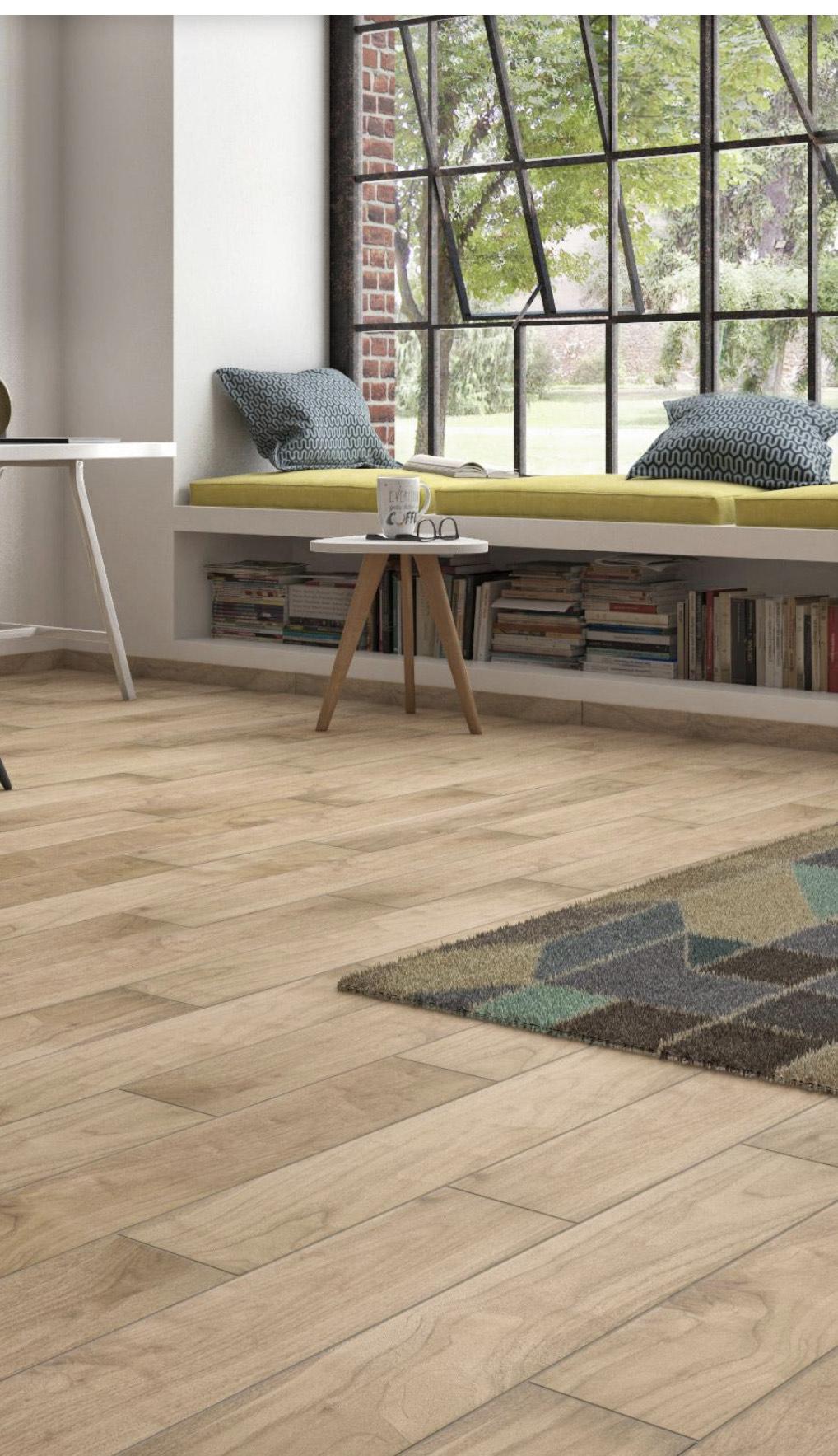 Carrelage sol et mur forte effet bois naturel Spania - l.15 x L.90 cm à 12.95€/m²