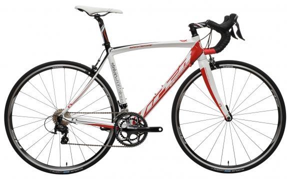 Vélo de Course Viper Stelvio Shimano 105 5800 34/50 - Blanc/Rouge, Taille 55 et 58