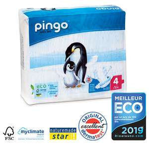 4 paquets de 40 couches Pingo T4 7 - 18kg