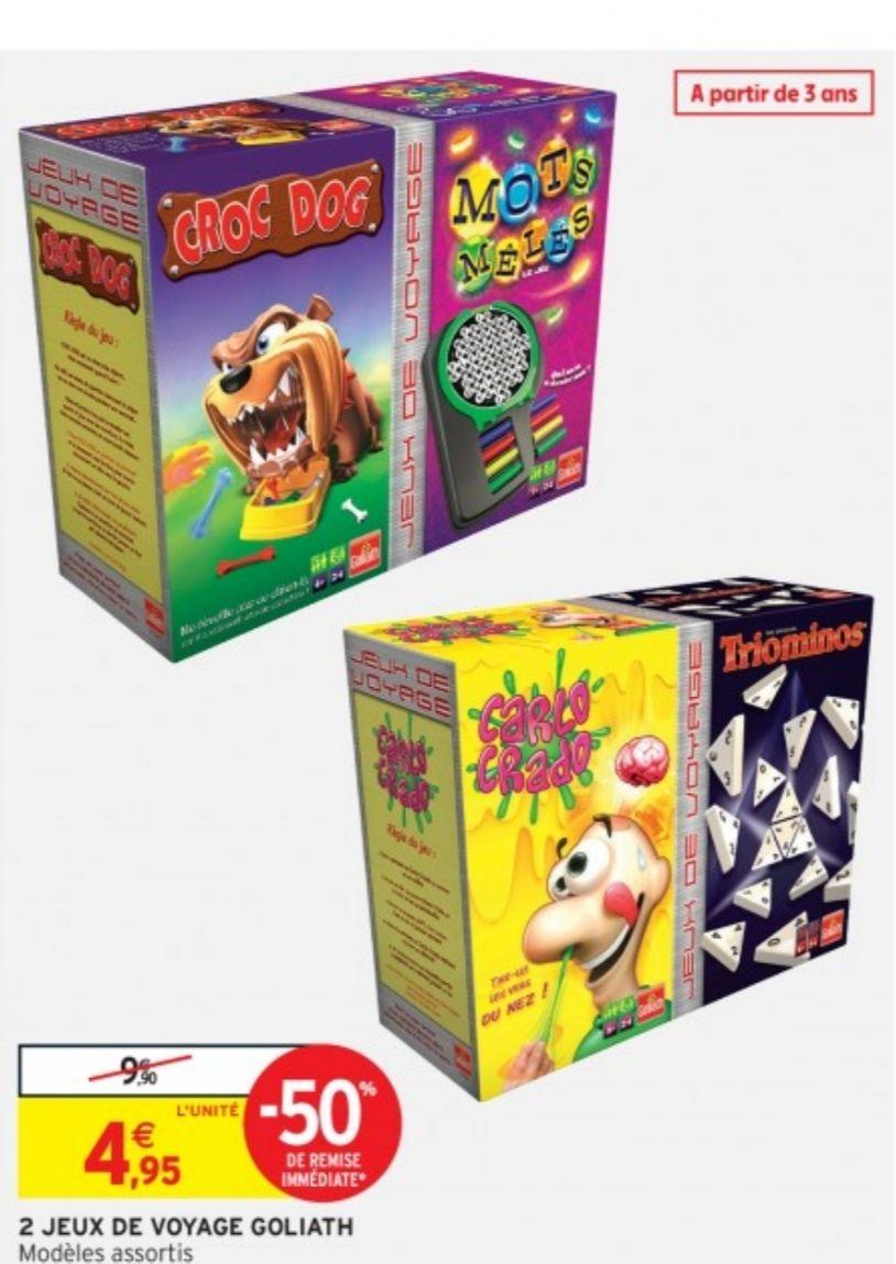 Pack de 2 jeux de société Goliath Bindle - Modèles assortis