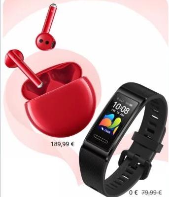Écouteurs Huawei FreeBuds 3 + Bracelet connecté Huawei Band 4 Pro