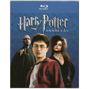 Harry Potter années 4 à 6 bluray