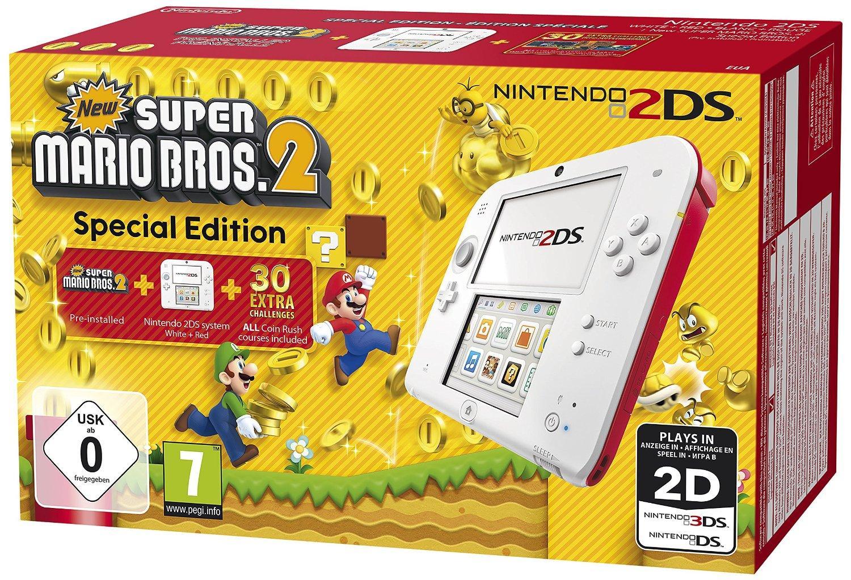 Nintendo 2DS Blanc/rouge + super marios bros 2
