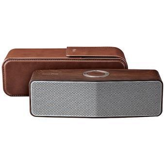 Enceinte portable LG NP7557 Bois avec pochette en cuir offerte