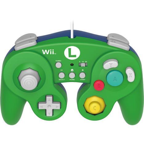 Manette Gamecube Hori pour Wii U - Modèle Luigi ou Mario