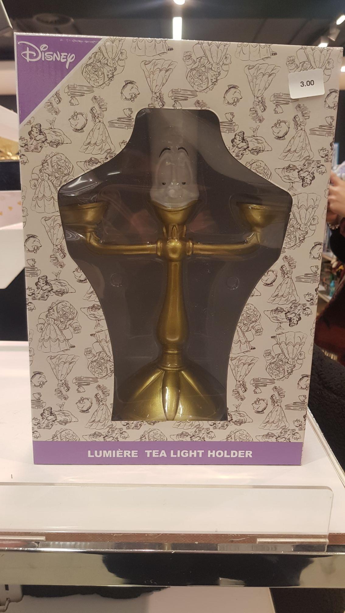 Sélection de produits Disney en promotion (Ex: Lumière Tea Light Holder de la Belle et la Bête) - Lille (59)