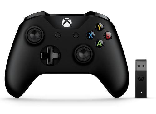 Manette Xbox One Microsoft Sans fil (Noir) + Adaptateur sans fil Windows 10
