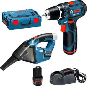 Pack perceuse-visseuse snas-fil Bosch GSR 10,8-2-LI Professional (0615990GE3) + aspirateur GAS (12 V) + 2 batteries 2.0 Ah