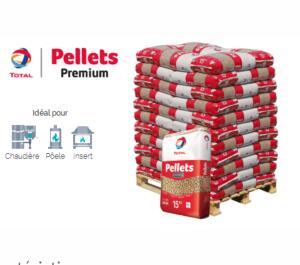 20€ de réduction par palette de pellets ou de bûches - Ex : Pallets Premium - 990kg (total-proxi-energies.fr)