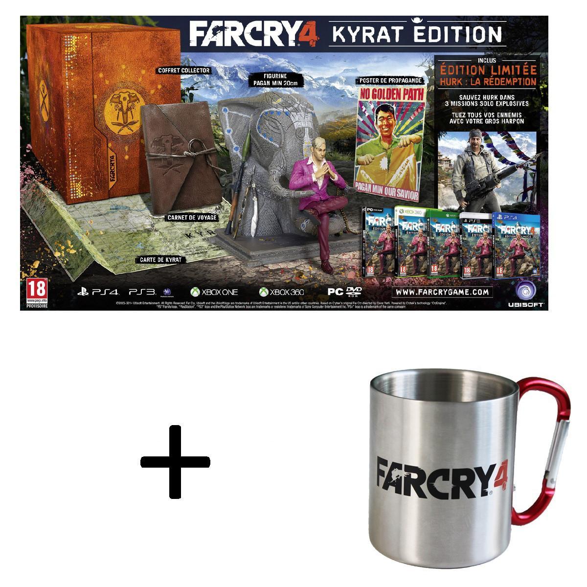 Far Cry 4 Kyrat Edition (Collector) + Mug offert PC/PS3/360 à partir