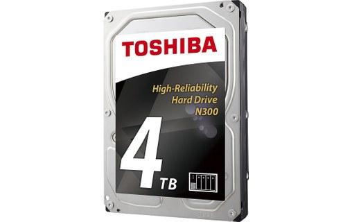 """Disque dur interne 3.5"""" Toshiba N300 - Optimisé NAS, cache de 128 Mo, 7200 tpm, 4 To"""