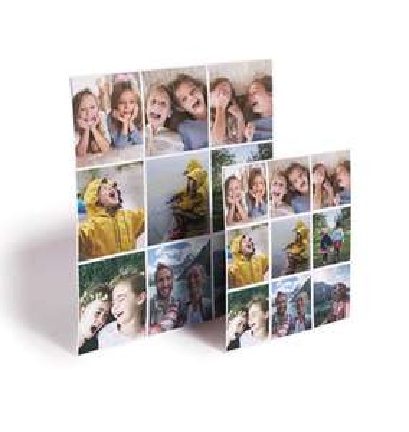 Lot de 9 magnets carrés personnalisables (5 x 5 cm)