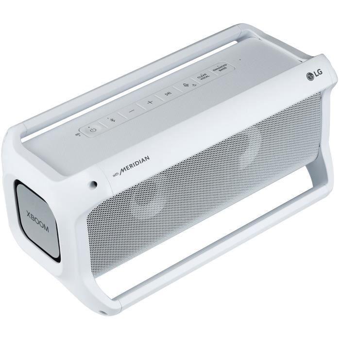 Enceinte bluetooth LG PK7W XBOOM Go - 40W, IPX5, apt-X HD, Commande vocale, Autonomie 22h, Effets lumineux (Blanc)