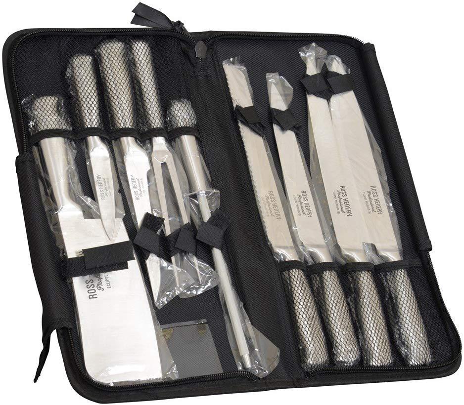 Ensemble de 9 couteaux de cuisine Ross Henry avec housse de transport (vendeur tiers)