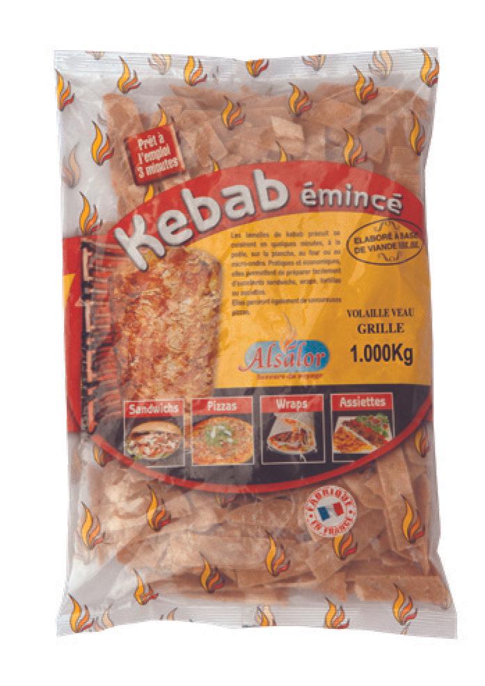 Émincé de Kebab surgelé Alsalor - 1Kg