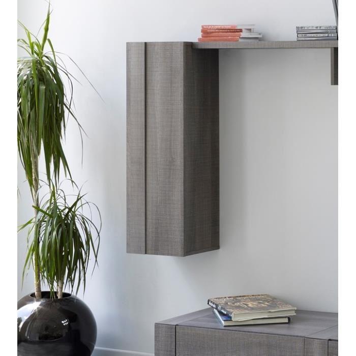 Colonne de rangement murale Grey 35cm - Décor réglisse ou blanc