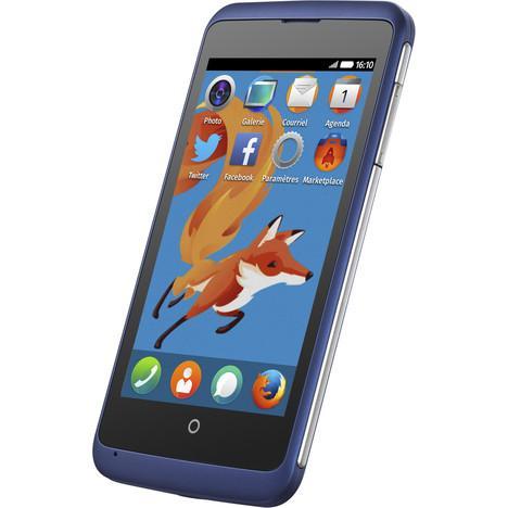 """Smartphone 4"""" Zte Open C bleu Firefox OS 1.3"""