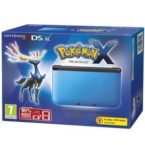 Nintendo 3DS XL version Bleu et Noir + Pokémon X (Préinstallé)