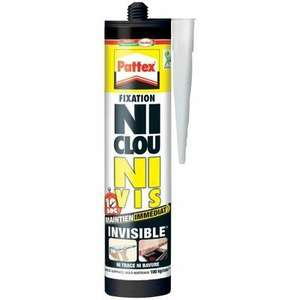 "tube de colle ""Ni clou ni vis invisible"" Pattex"