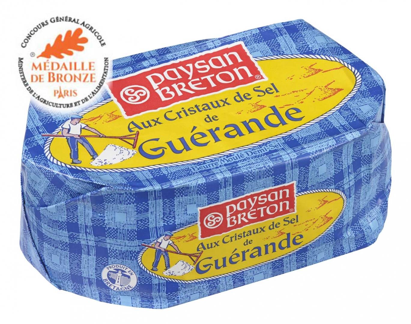 Beurre Paysan Breton Moulé au Sel de Guérande 250g (via BDR & Quoty)