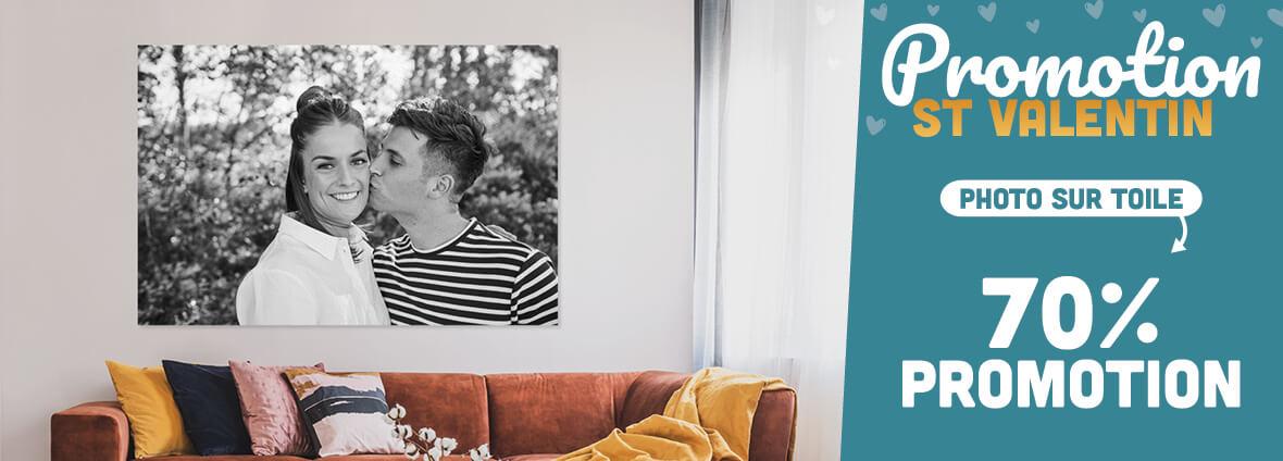70% de réduction sur la photo sur toile et 40% sur la photo sur bois (HelloDeco.fr)