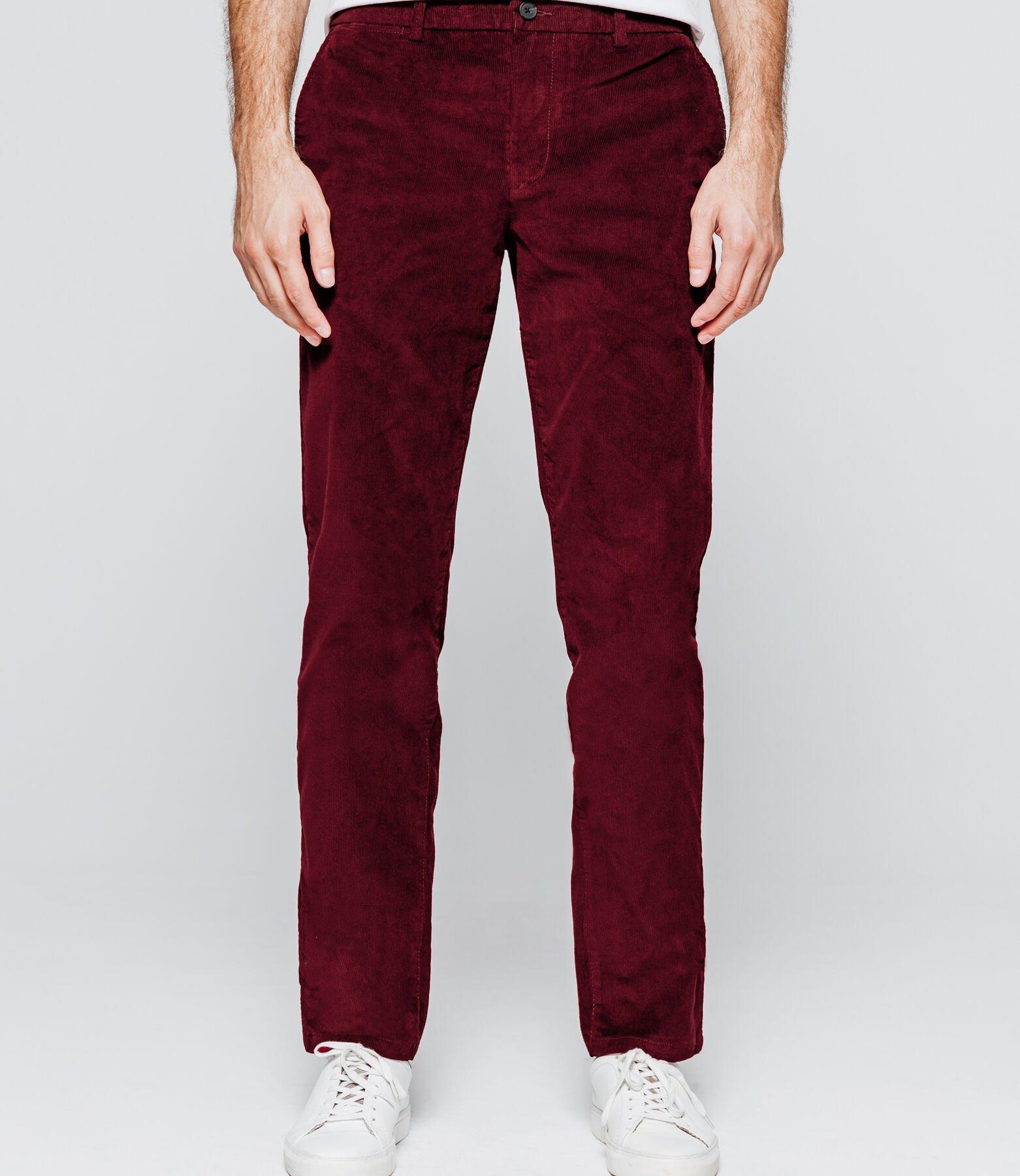 Pantalon Chino coupe droite côtelé Brice - Tailles 38 et 40