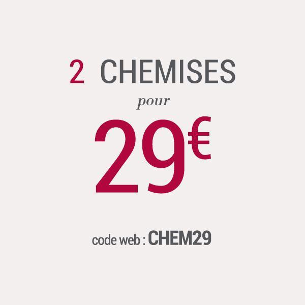 Lot de 2 chemises Devred pour 29€