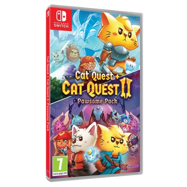 [Précommande] Jeu Cat Quest 1 et 2 Pack Pawsome sur Nintendo Switch et PS4 (Boite en anglais - Langue FR)