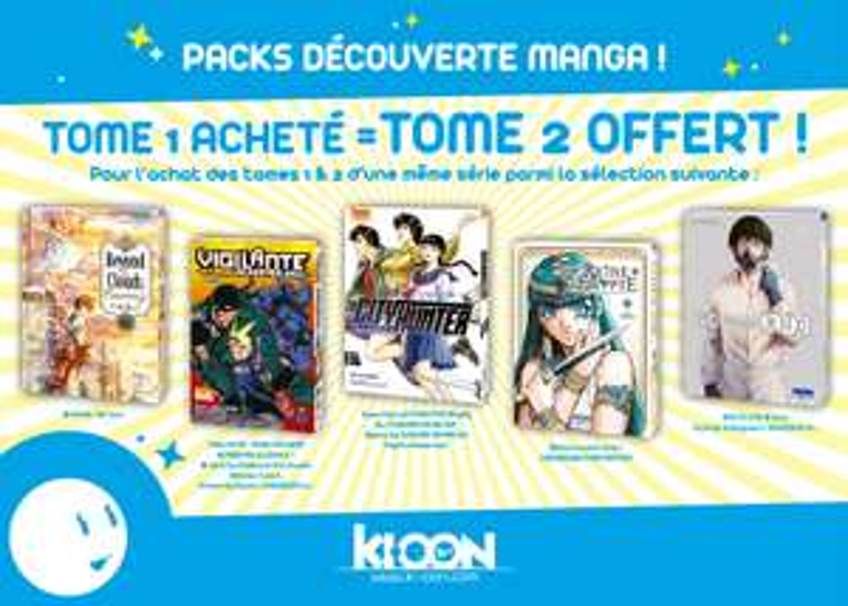 Livre Manga Tome 1 acheté = Tome 2 offert sur une sélection (Ki-oon)