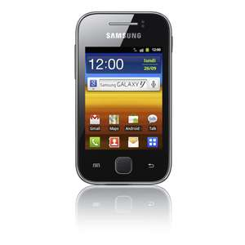 Samsung Galaxy Y Noir - Reconditionné avec mobicarte