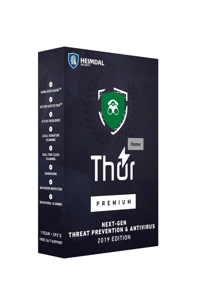 Licence Heimdal Security Thor Premium Suite - Antivirus & Antimalware - Gratuit pour 3 ans - 10 postes - PC ou Mac