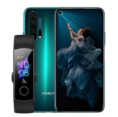 "Smartphone 6.2"" Honor 20 Pro - 256 Go, 8Go RAM + Bracelet connecté Huawei Band 5 offert"
